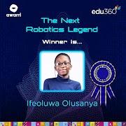 Ifeoluwa Olusanya Emerges Winner Of Union Bank Next Robotics Legend Competition