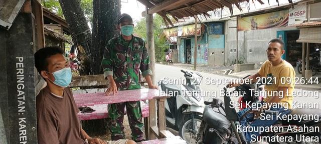 Dengan Komunikasi Sosial Personel Jajaran Kodim 0208/Asahan Berikan Himbauan Pencegahan Covid-19
