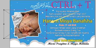 Desain Kartu Nama Kelahiran Bayi Untuk Kenduri