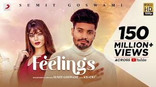 feeling song lyrics in hindi sumit goswami arti sharma
