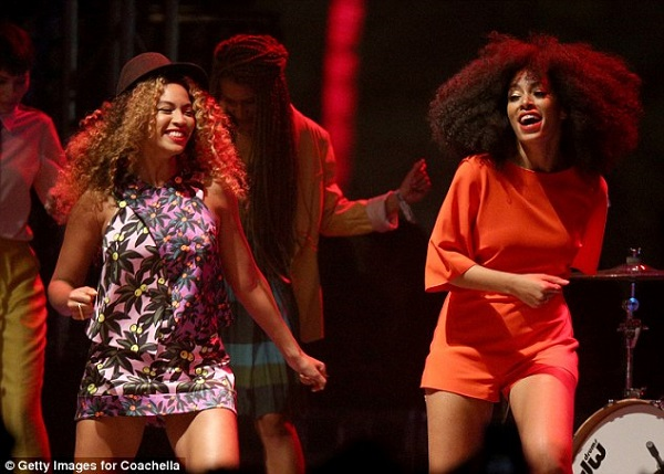 Beyonce and Solange at the 2014 Coachella Music and Arts Festival