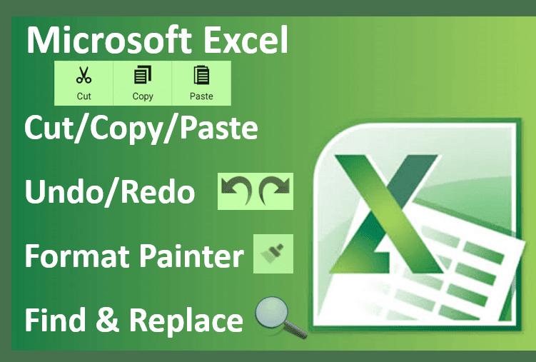 Cut/Copy/Paste in Excel