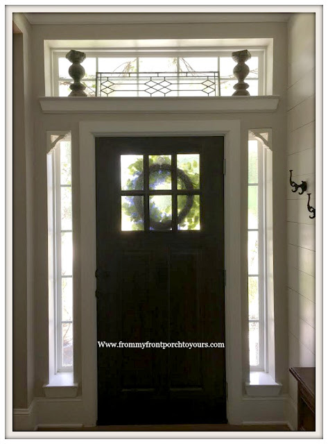 Privacy-Front Door Windows-DIY-Foyer-Farmhouse-From My Front Porch To Yours