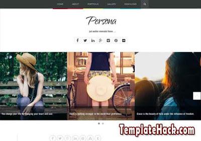persona minimalist blogger template