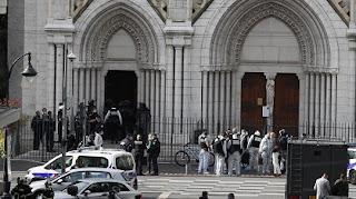 هجوم عند كنيسة بمدينة نيس، ضواحي باريس، الرسوم المسيئة للنبي محمد.، حربوشة نيوز