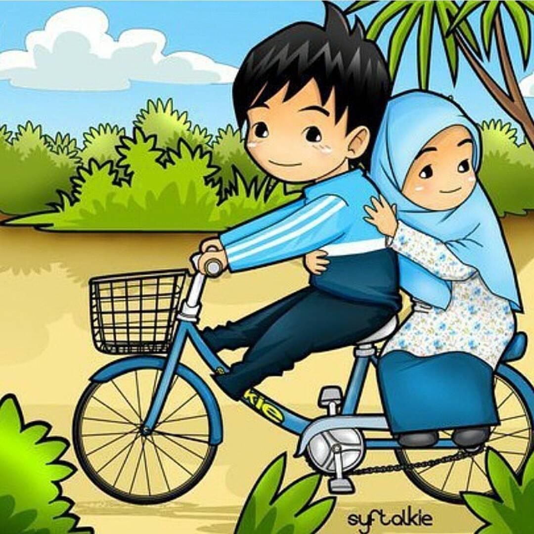 Kartun Muslim Muslimah Berpasangan Kolek Gambar