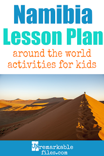 Building the perfect Namibia lesson plan for your students? Are you doing an around-the-world unit in your K-12 social studies classroom? Try these free and fun Namibia activities, crafts, books, and free printables for teachers and educators! #namibia #lessonplan #geography