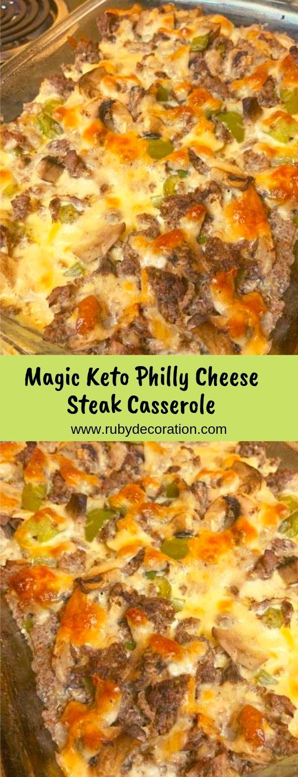 Magic Keto Philly Cheese Steak Casserole