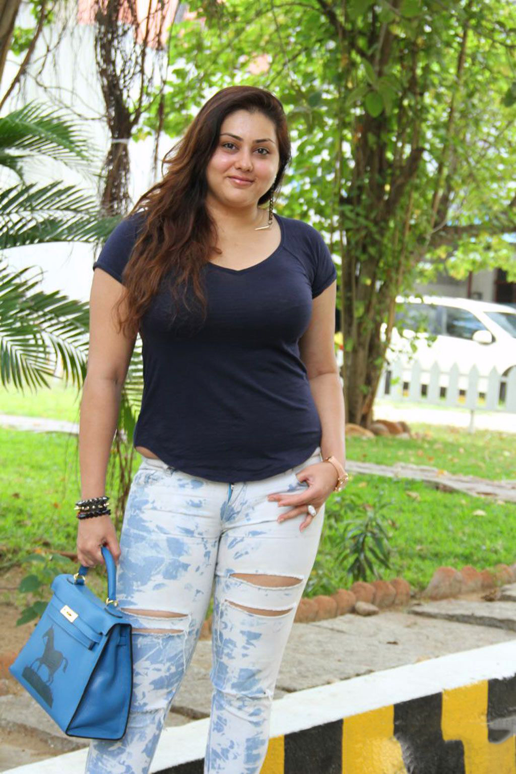 Namitha Kapoor Casual Hot in Rough Jeans