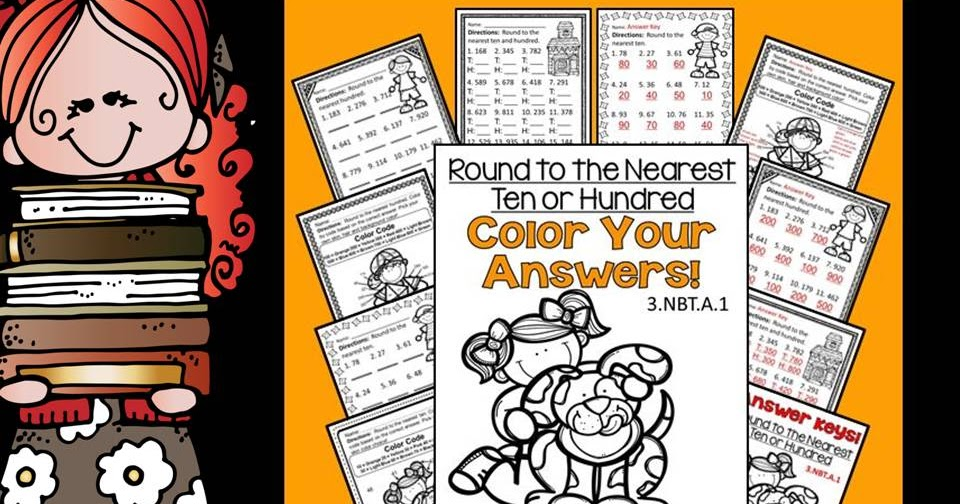 Rounding To The Nearest Ten Or Hundred Color By Numbers