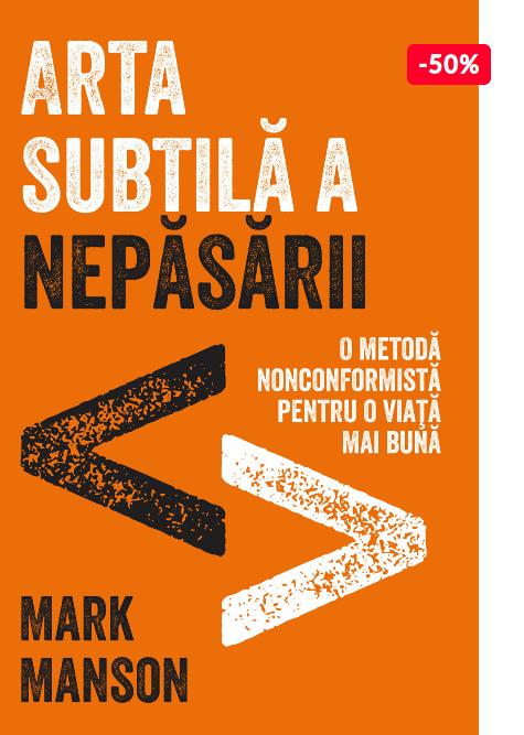 Oferta carte Mark Manson Arta subtila a nepasarii