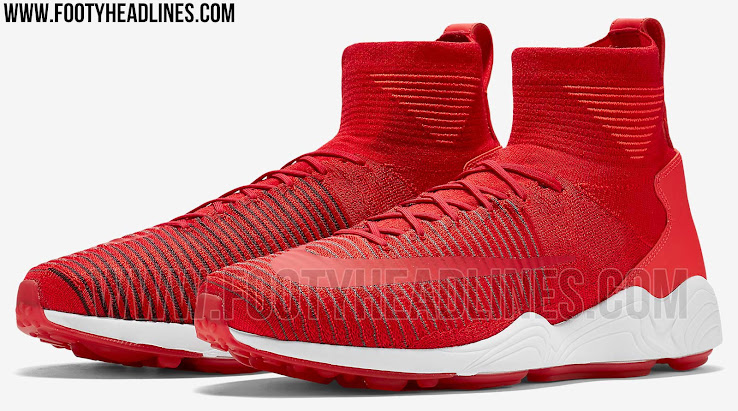 ad72afbd4d76 Red Nike Zoom Mercurial Flyknit Sneakers Revealed - Footy Headlines