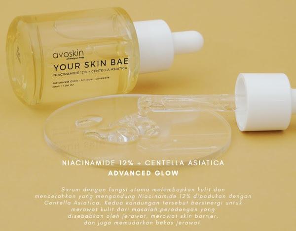Avoskin Your Skin Bae Niacinamide 12 % + Centella Asiatica Serum Jerawat