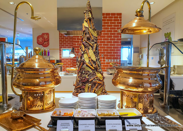 Arabic dishes at Novotel Al Barsha breakfast buffet