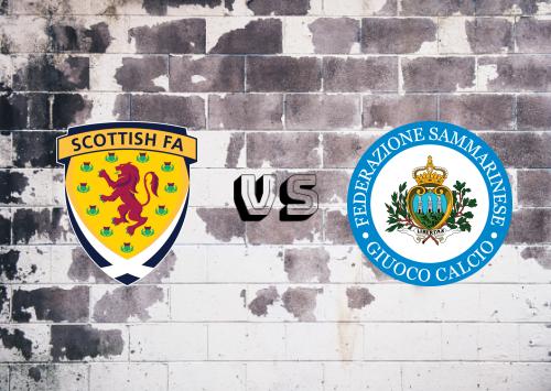 Escocia vs San Marino  Resumen