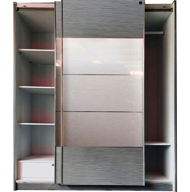 model lemari pakaian pintu geser 2 pintu