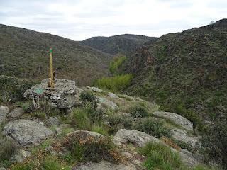 Señalización del sendero entre Hiendelaencina y Villares