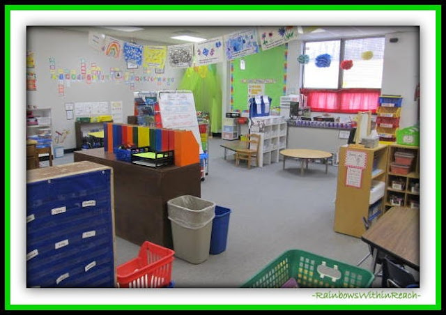 Kindergarten Classroom Organization of Centers (Classroom Organization RoundUP at RainbowsWithinReach)