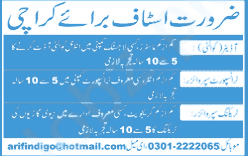 Quality Auditor & Transport Supervisor Job in Karachi 2020