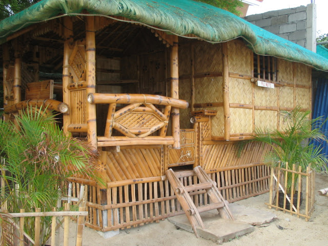 Modern bamboo houses interior and exterior designs for Small hut plans