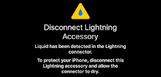 aviso de apple si detecta humedad en su iphone