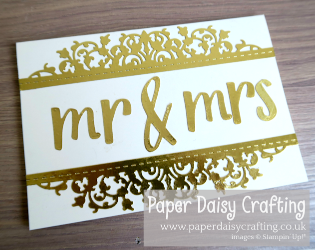 Nigezza Creates With Paper Daisy Crafting using Stampin Up Hand Lettered Prose Dies