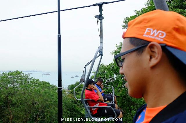 pengalaman naik skyride di singapore