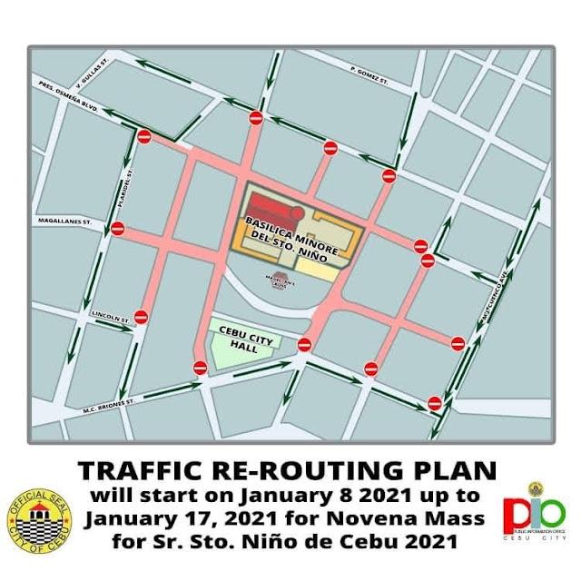 Sinulog 2021 - Traffic Rerouting