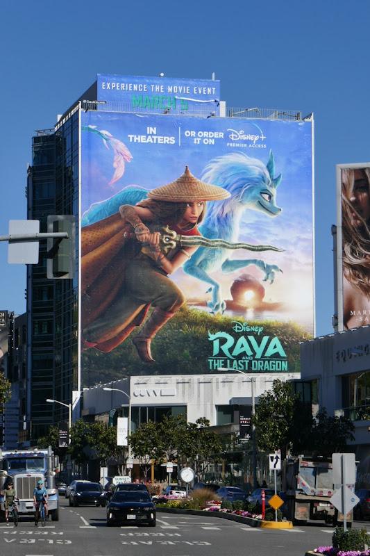 Giant Raya and Last Dragon movie billboard