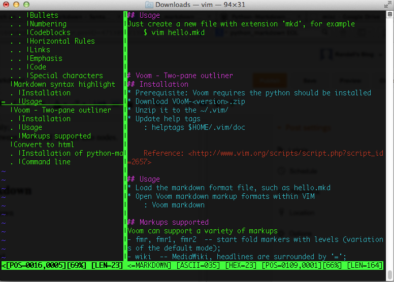 Study, Research and Note: Use VIM to make notes [markdown]