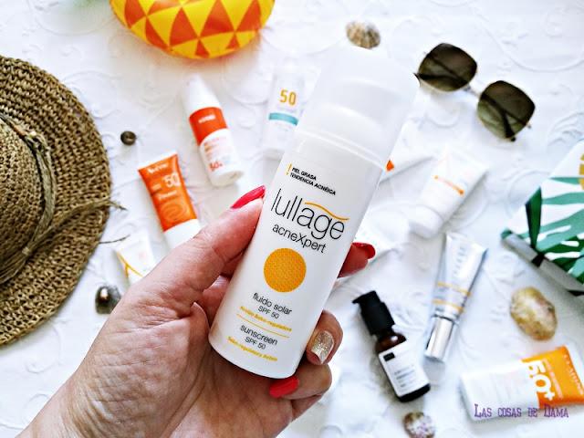 Lullage AcneXpert Protección Solar Facial antiaging antienvejecimiento sunprotect beauty salud belleza antiedad manchas