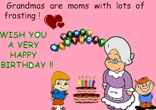 birthday greeting to a grandmother