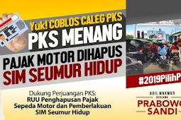 PKS janji pajak motor di hapus, contoh kampenye bohong besar