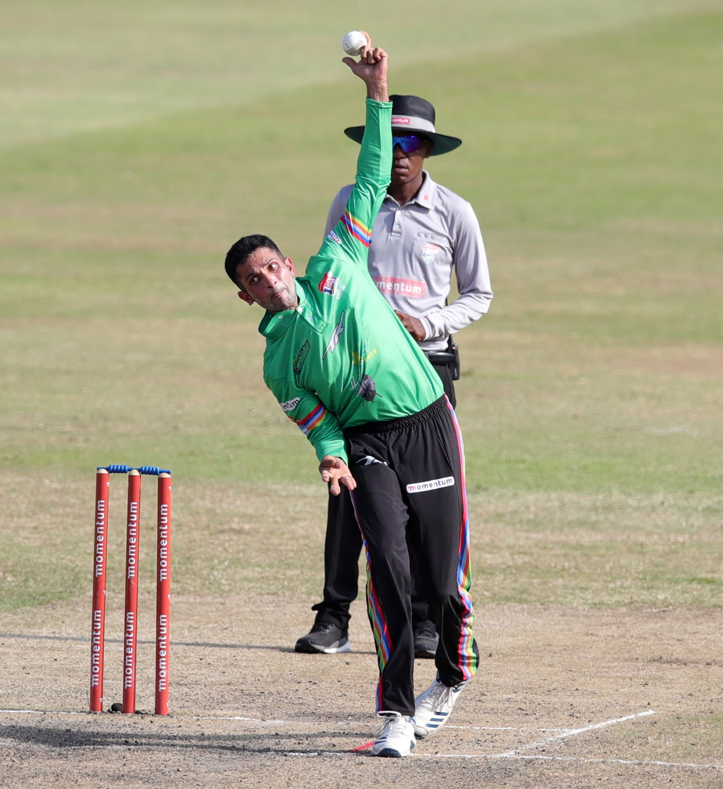 Keshav Maharaj delivers for the Hollywoodbets Dolphins