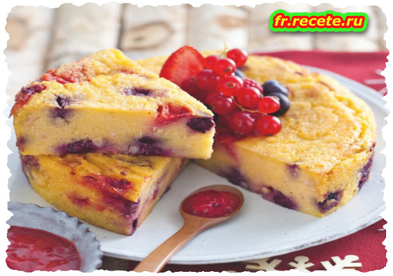 Biscuit de polenta aux fruits rouges