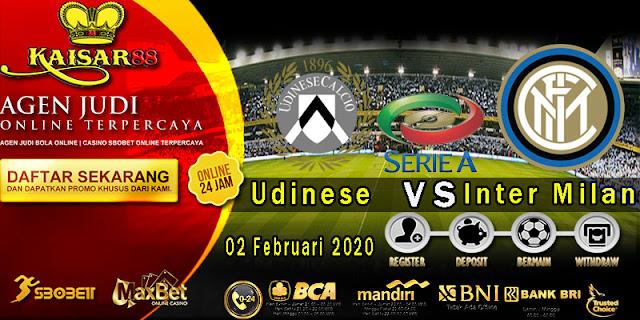 Prediksi Bola Terpercaya Liga Italia Udinese vs Inter Milan 3 Februari 2020