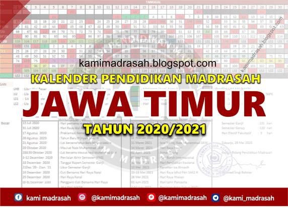 Kalender Pendidikan Madrasah Jatim Tahun 2020 2021 Idn Paperplane