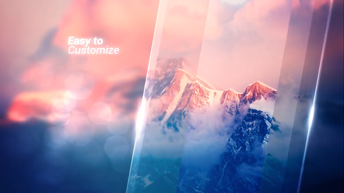 Premiere Pro Ice Glass Slideshow Template