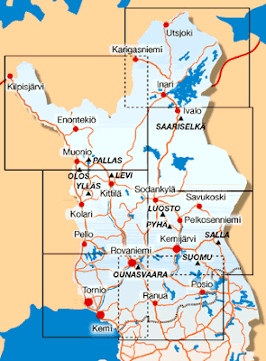 Mapa de Laponia Finlandesa