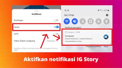 Cara mengaktifkan notifikasi story Instagram orang