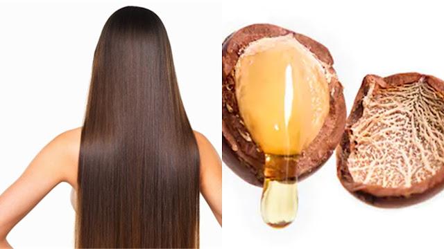 Mujer con el cabello hermoso gracias al aceite de argán.