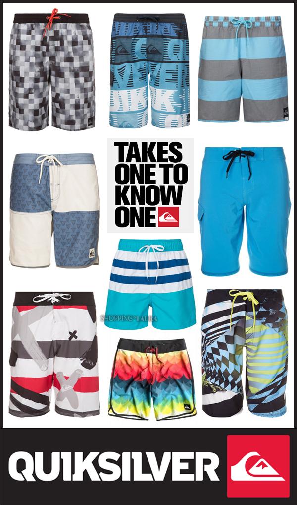 Boardshorts QUIKSILVER pour les adeptes du sportswear australien !
