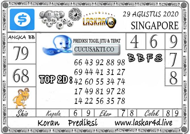 Prediksi Togel SINGAPORE LASKAR4D 29 AGUSTUS 2020