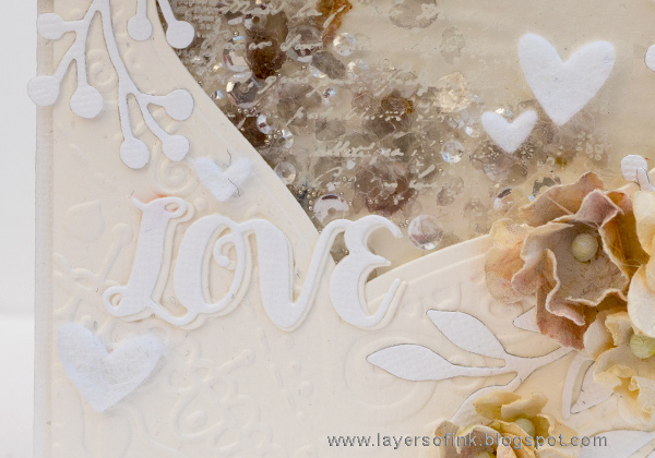 Layers of ink - White and Cream Textured Card by Anna-Karin Evaldsson