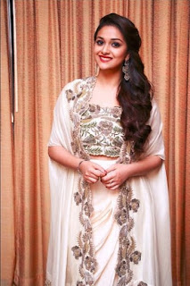Keerthy Suresh in white Dress with Cute Smile in Saamy Square Audio Launch 3
