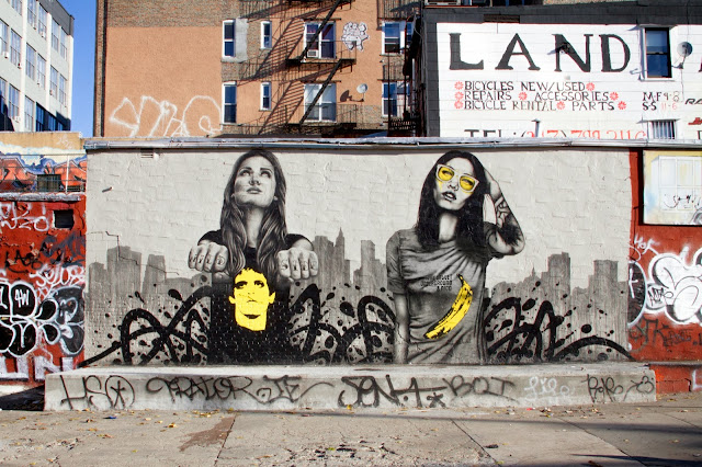 """The Velveteens"" New Street Art dedicated to the memory of Lou Reed - Piece Painted By Fin DAC and Angelina Christina. 2"