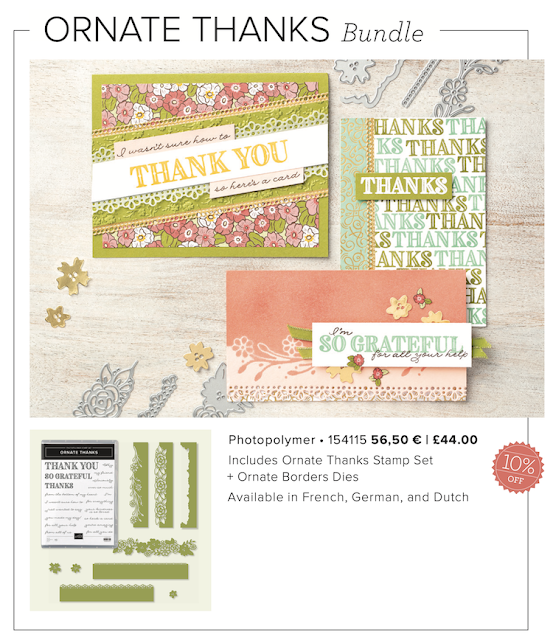 Ornate thanks Stampin Up