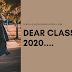 Dear Class of 2020....