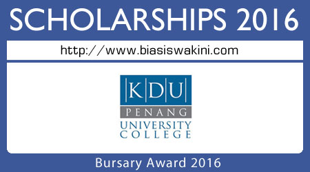 Bursary Award 2016