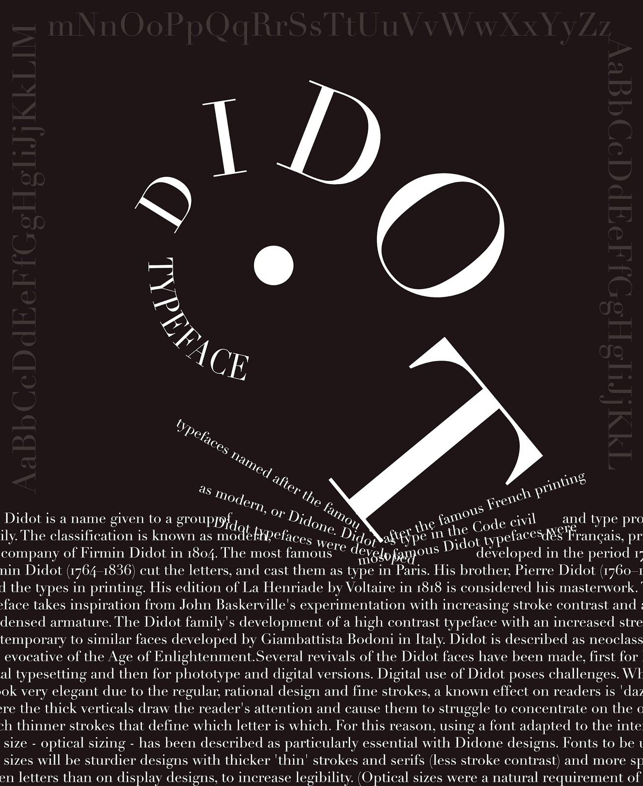 didot typeface poster wwwimgkidcom the image kid has it